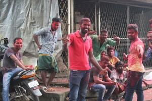 In Kochi waren gerade Lokalwahlen - die linke Partei UDF (United Democratic Front) hat anscheinend die meisten Stimmen erhalten.